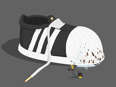 Adidas Originals Advertisement - 2019 by Samy Löwe painted vector ipad adobe sketch adobe draw illustrator illustration art illustration digitaldrawing design creative colors art
