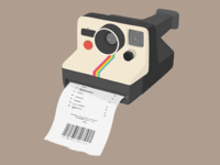 Polaroid - illustration art by Samy Löwe