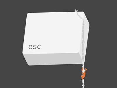 Key to escape drawing design art colors digitaldrawing creative art vector painted illustrator design illustration