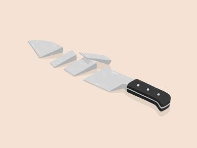 Knife illustration by Samy Löwe illustrations art adobe sketch adobe draw illustration art design art digitaldrawing creative vector painted illustrator illustration design