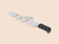 Knife illustration by Samy Löwe