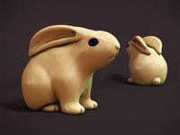 Bunny netsuke