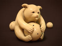 Bear With Ball – Netsuke