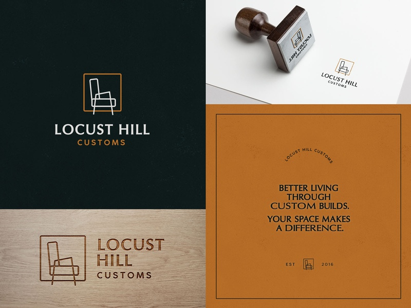 Brand Identity - Locust Hill Customs adobe illustrator branding icon logo illustrator illustration design