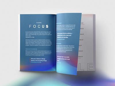 Focus layout minimal gradient gradients layout design branding and identity conference branding branding