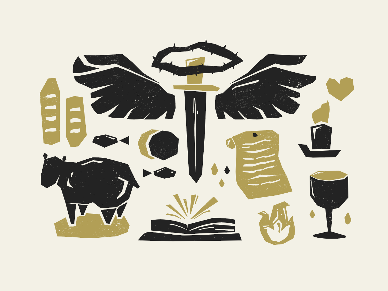 Finding Truth WIP book cover design study francis chan gold black black and gold sword sheep bible stories biblical stories bible jesus illustrative graphic deisgn design illustration