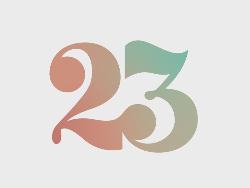 Psalm 23 WIP gradient jesus logo design logo mark logo handlettering lettering art cover design design graphic design illustrative illustration vector clean simple typography type numbers hand lettering lettering