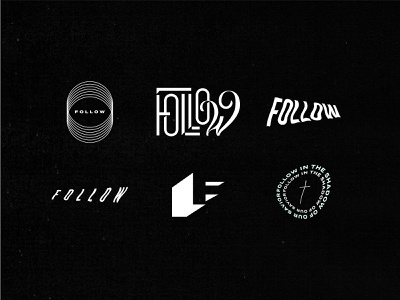 Follow Marks texture lettering jesus hip type funky type rightnow media follow typography type graphic design design logo marks logomarks