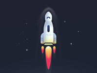 Rocket illustration vector rocketship galaxy gradient rocket design minimalist illustration