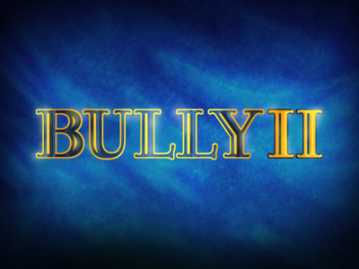 BULLY II bully 2 schoolarship school rockstar games rockstar comic bully bull game logo design redesign vector typography expressive game branding art logo