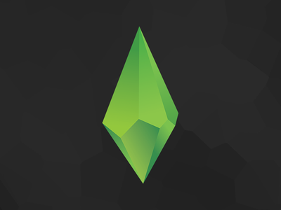 GREEN plumbob ea redesign illustration art design logo branding