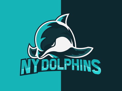 NY Dolphins team work dolphins nyc team logo team design expressive illustration typography logo branding art