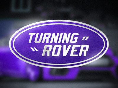 turning rover typography truck gamedev company car design logo expressive art branding