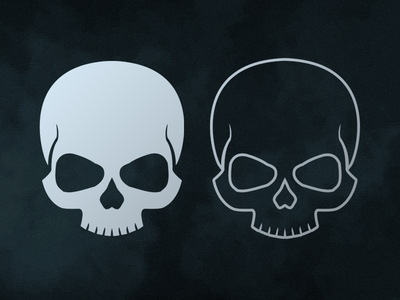 The Skull vector illustration death typography game design logo