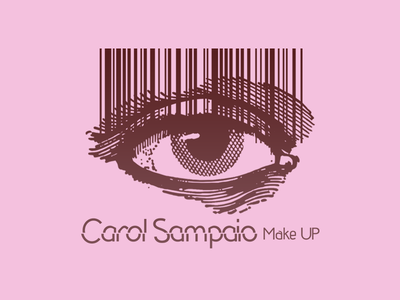 Carol Sampaio Makeup eye logo eye eyes beauty care beauty beautiful make up makeup codebar code logo code illustration semantic editorial expressive typography vector design logo