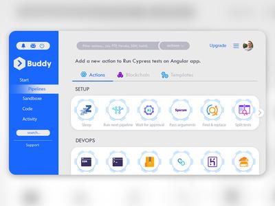 Buddy Playoff web redesign branding code action website ux concept art user interface ui dashboard buddy playoff web designer web design design app design app