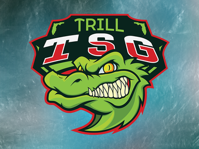 Trill Squad Gaming Esports sport esports gaming gamer ps4 xbox rocket logo teamwork teamlogo team logo alligator typography game eyes expressive vector design illustration art logo