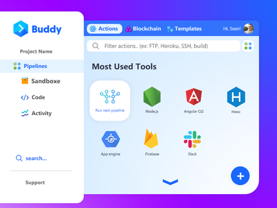 Buddy Playoff xd adobe xd website web ux user ui template redesign interface interaction icon flat experience design dashboad branding art app actions