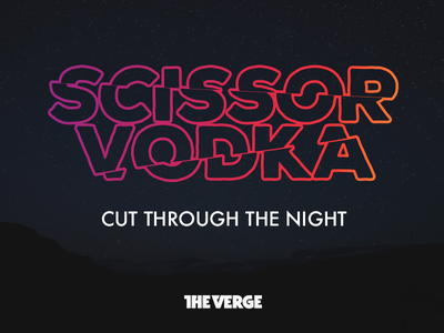 Scissor Vodka Logo vergecast the verge joke logo