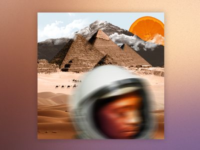 Desert Crossing surreal space digital collage photo manipulation