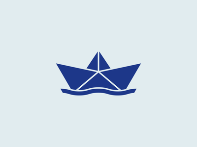 Paper Boat Logo origami boat logodesign dailylogodesign dailylogochallenge icon logo