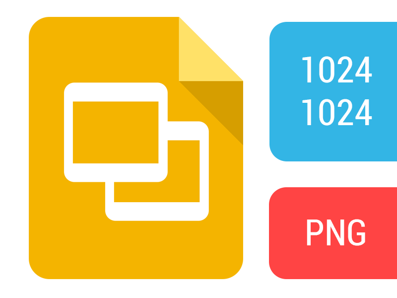 google slides icon by taylor ling dribbble dribbble