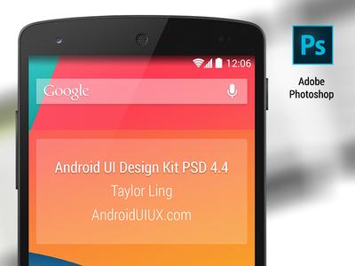 Android UI Design Kit 4.4 for Photoshop [Nexus 5] design kit android ui photoshop