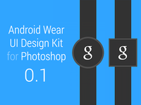 Android Wear UI Design Kit 0.1