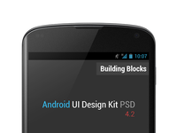 Android UI Design Kit PSD 4.2