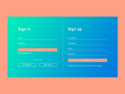 Sign in - Sign up uiux design signup in sign