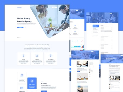 Anfang - Agency, Startup and SaaS Template template design saas template app web landing page startup agency template page design