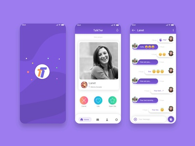 Dating app UI