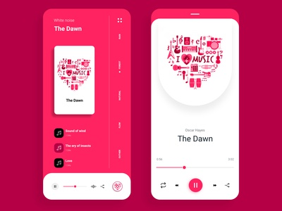 App design for pink music app