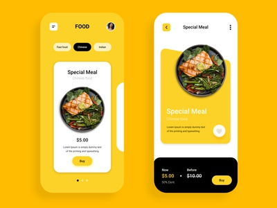 food delivery Ui screen