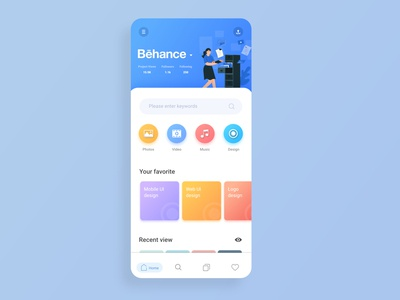 Behance UI design