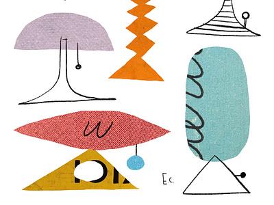 Lamp Lamp Lamp retro fun whimsical illustration