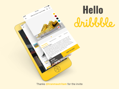 Hello Dribbble | Hello 2018 | First Shot