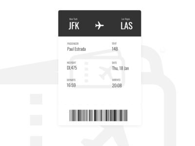 Simple Boarding Pass UI
