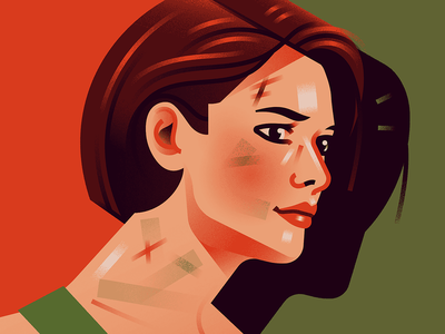 Jill Valentine games residentevil woman illustration portrait