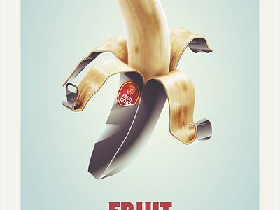 Fruit Corp - Banana banana tin metal can opener fruit food industry
