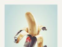 dribbble banana poster png by julian burford