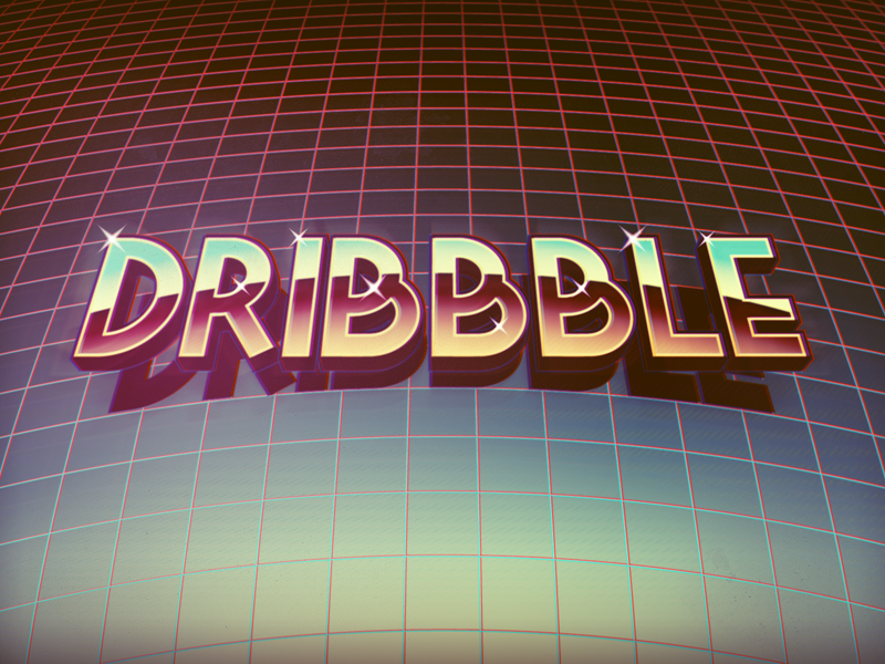 Dribbble Retro retro game grid old school wallpaper