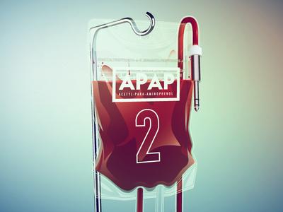 APAP 2 blood bag infusion music trap hospital jack plug