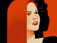 Amy Adams portrait movies star hollywood woman illustration