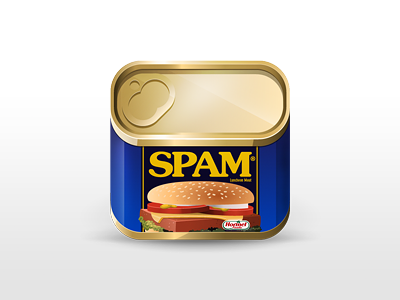 SPAM icon spam food illustration