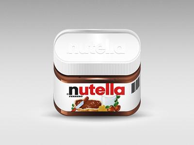Nutella illustration icon food nutrition chocolate jar