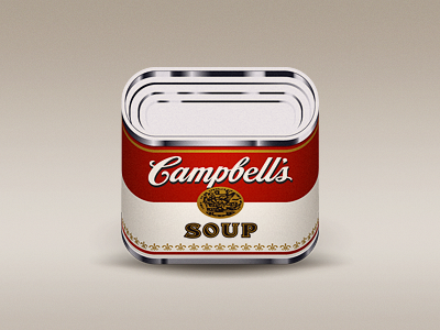 Campbells campbell soup can food icon