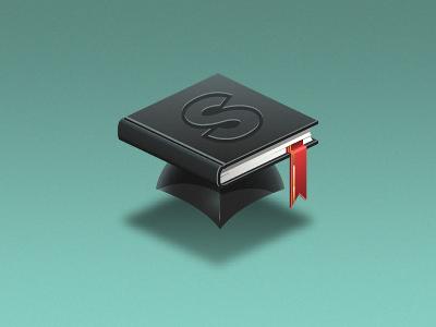 Slugbooks book academic cap student school learning academy education university logo icon