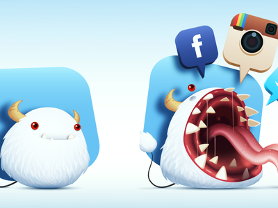 Cute Monster monster cute apps tongue drool