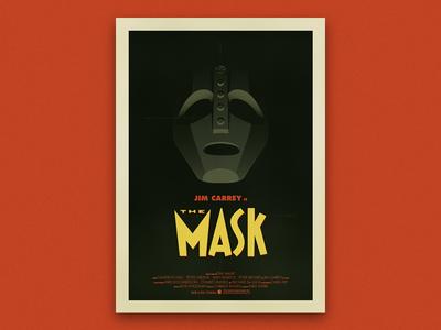 The Mask - Vintage Poster vintage 50s poster jim carrey mask horror movie